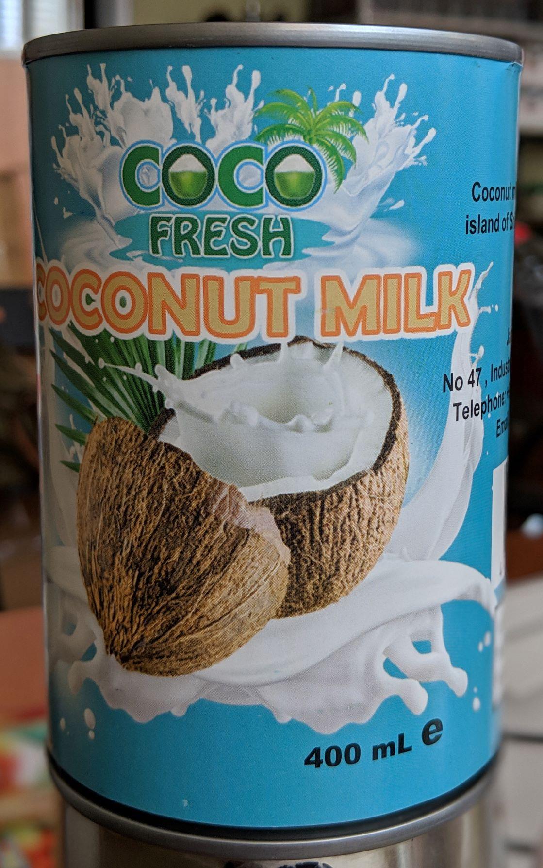 Растительное молоко Кокосовое Coco Fresh жирность 18% Жестяная банка, 400