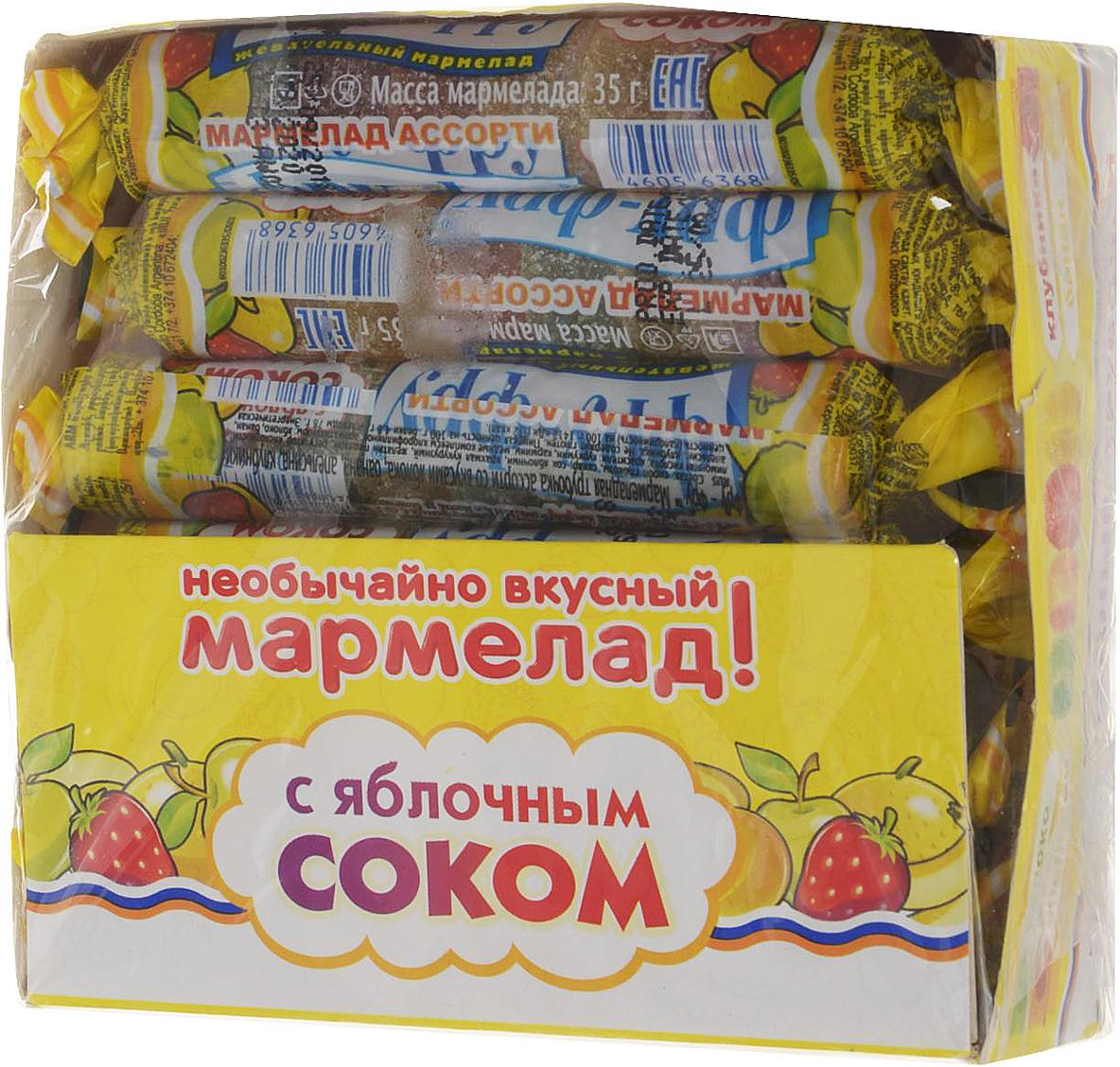 Сладкая Сказка Фру-Фру трубочка мармеладная с яблочным соком, 420 г (12 шт)