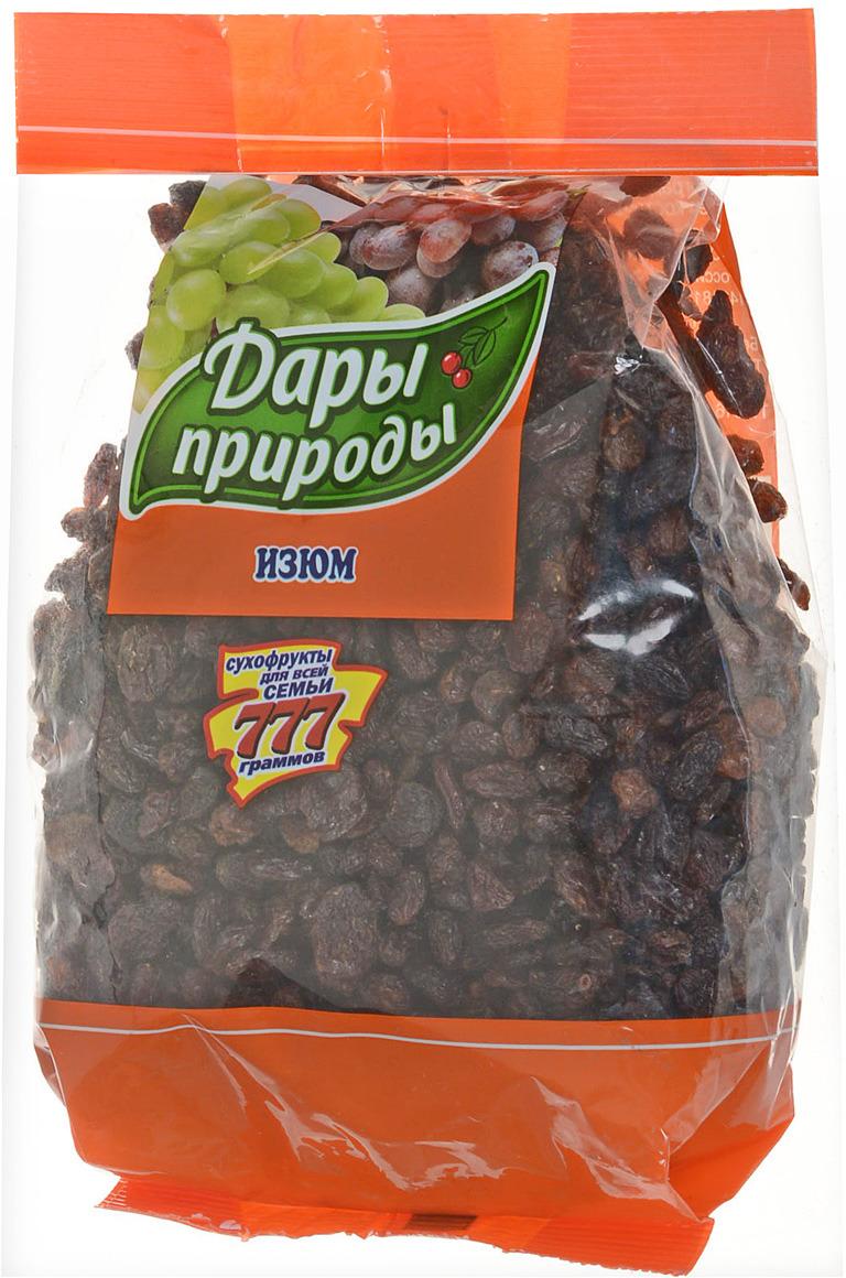 Изюм темный Дары природы, 777 г дары природы кайса абрикос сушеный 150 г