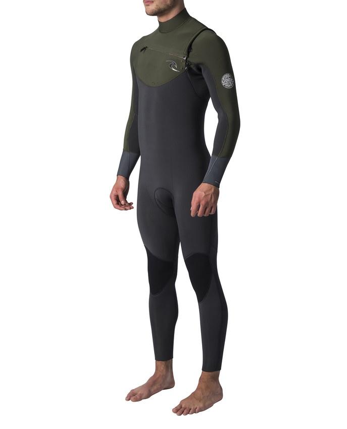 Гидрокостюм RIP CURL RIPCURL-WSM7CM, зеленый khaki patchwork color black long sleeves trench coat