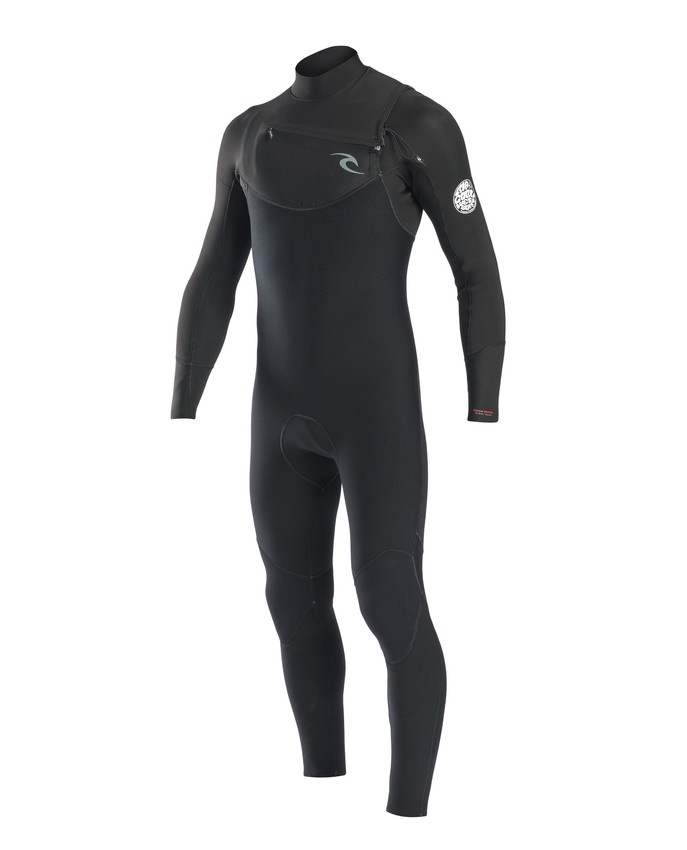 Гидрокостюм RIP CURL RIPCURL-WSM7CM, черный khaki patchwork color black long sleeves trench coat
