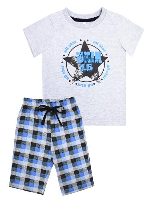 Комплект одежды UNIK комплект одежды для мальчика let s go футболка шорты цвет темно голубой серый 4219 размер 98