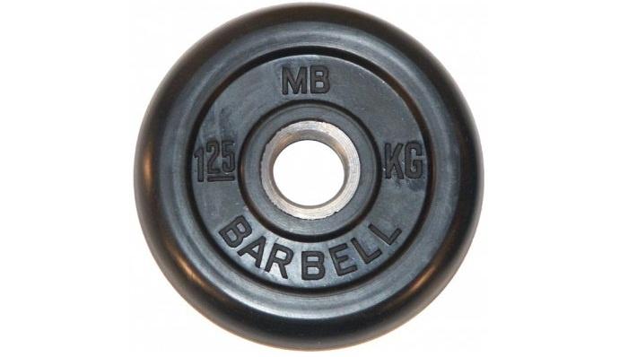 Диски Barbell MB-PltB51-1,25, черный