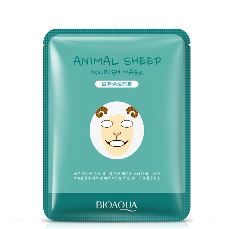 Маска косметическая BIOAQUA маска для лица Овечка, 30 гр. маска косметическая bioaqua bioaqua маска для лица с экстрактом ромашки 30 гр