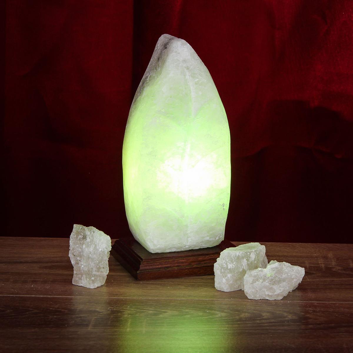 Декоративный светильник Ваше Здоровье Лист простой, соляной, E14, 20W, 1533520, бежевый, 10 х 12 х 22 см