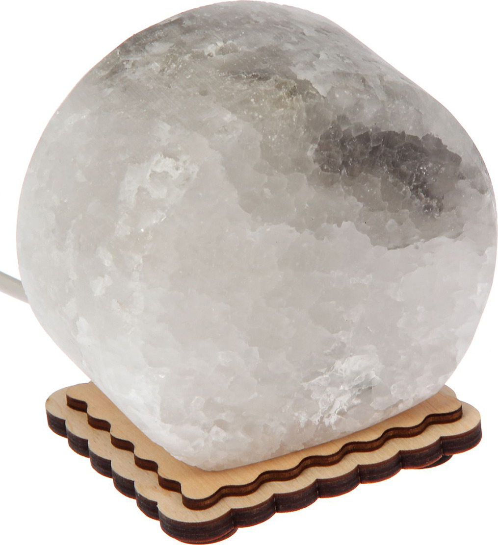 Декоративный светильник Круг, соляной, G5.3, 20W, 2106028, бежевый, 8 х 10,5 х 11 см