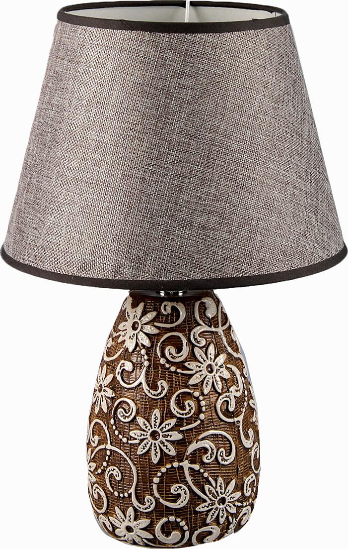 Настольный светильник Risalux Вьющиеся цветы E27 40W, E27, 40 Вт настольный светильник risalux резные цветы e27 3736887 бежевый 30 х 30 х 48 см