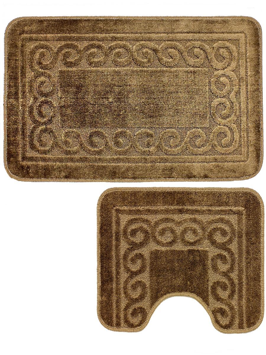 Набор ковриков для ванной mr. Penguin BF0016/2, коричневый
