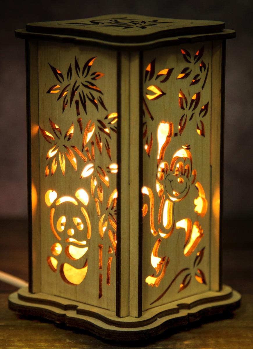 Декоративный светильник Панда, соляной, малый, E14, 20W, 3106463, бежевый, 10 х 10 х 16 см