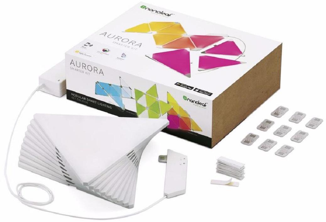 Лампа подсветки Nanoleaf Aurora Smarter 9 панелей, прозрачный