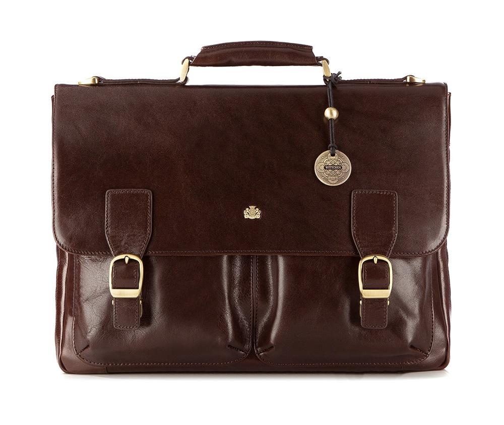 Портфель Wittchen 10-3-405, темно-коричневый портфель wittchen 39 3 104 39 3 104 3 коричневый