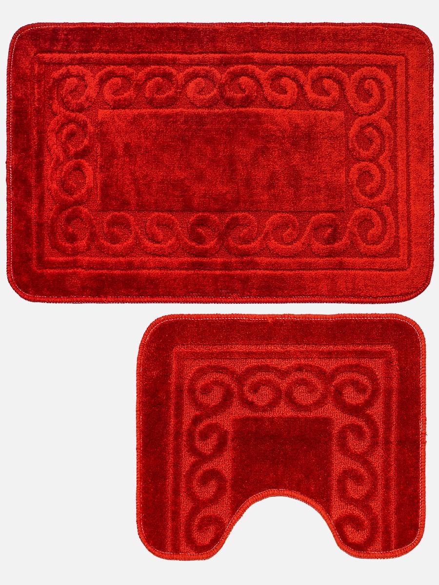 Набор ковриков для ванной mr. Penguin BF0015/2, красный