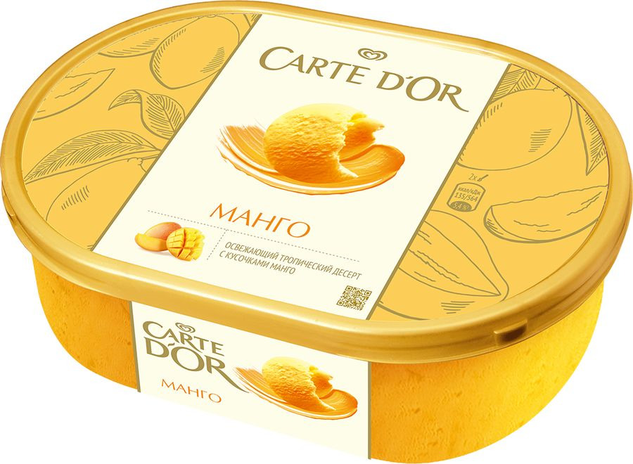 Мороженое Carte D'or Сорбет Манго, 575 г baskin robbins мороженое клюквенно малиновый сорбет 500 мл