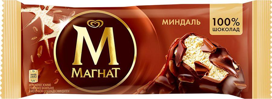 Мороженое Магнат Эскимо Миндаль, 73 г Магнат