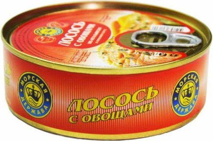 Лосось Морская Держава, с овощами, в томатном соусе по-итальянски, 220 г