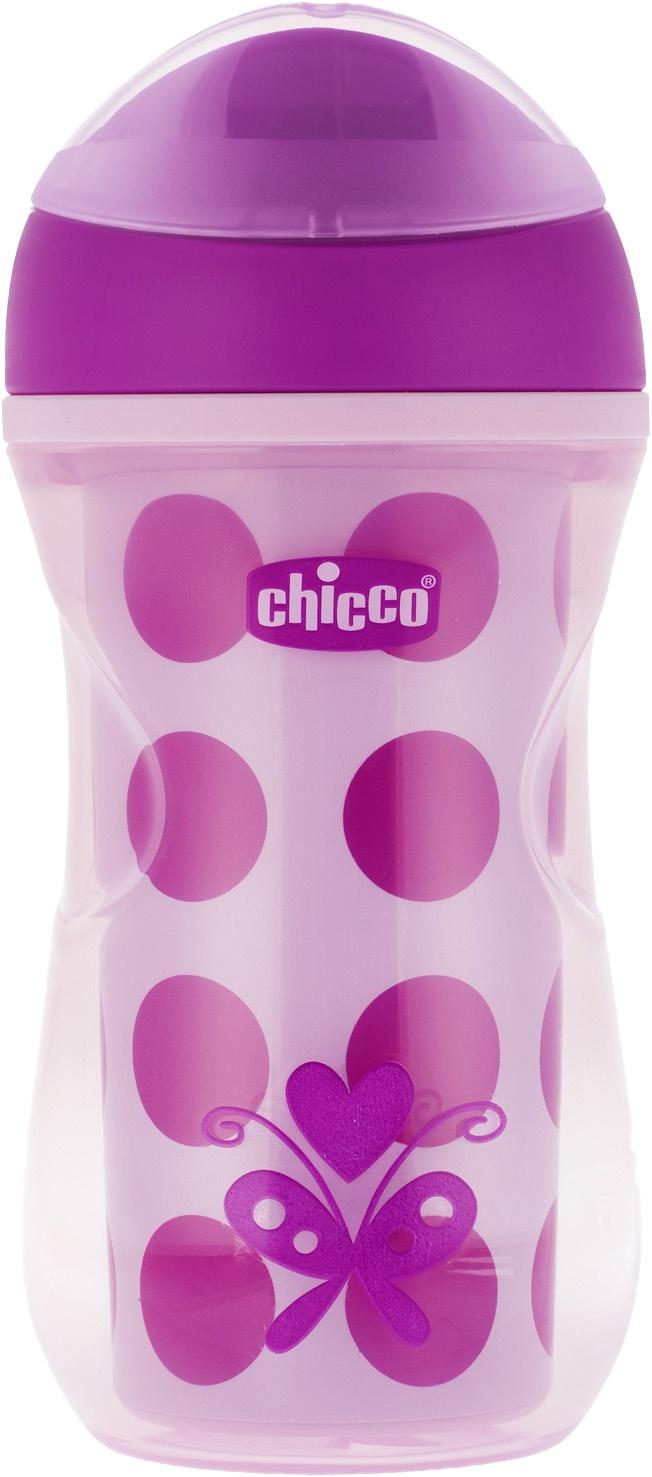 Поильник Chicco Active Cup (носик ободок) розовый