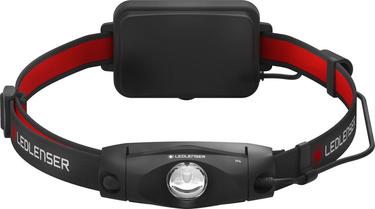 Налобный фонарь LED Lenser H4, 501096, черный