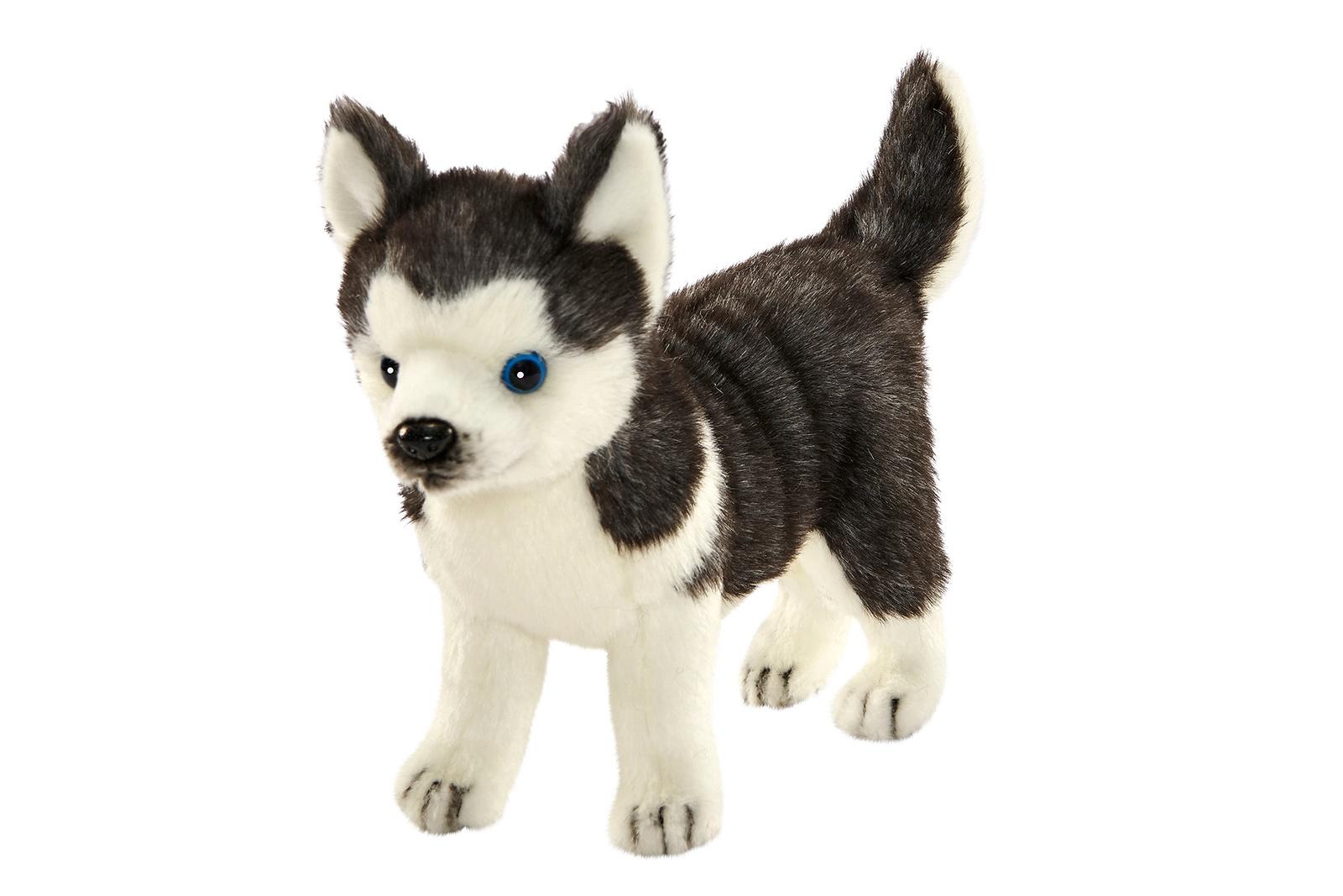 Мягкая игрушка HANSA 6970 Щенок Хаски стоящий, 20 см серый