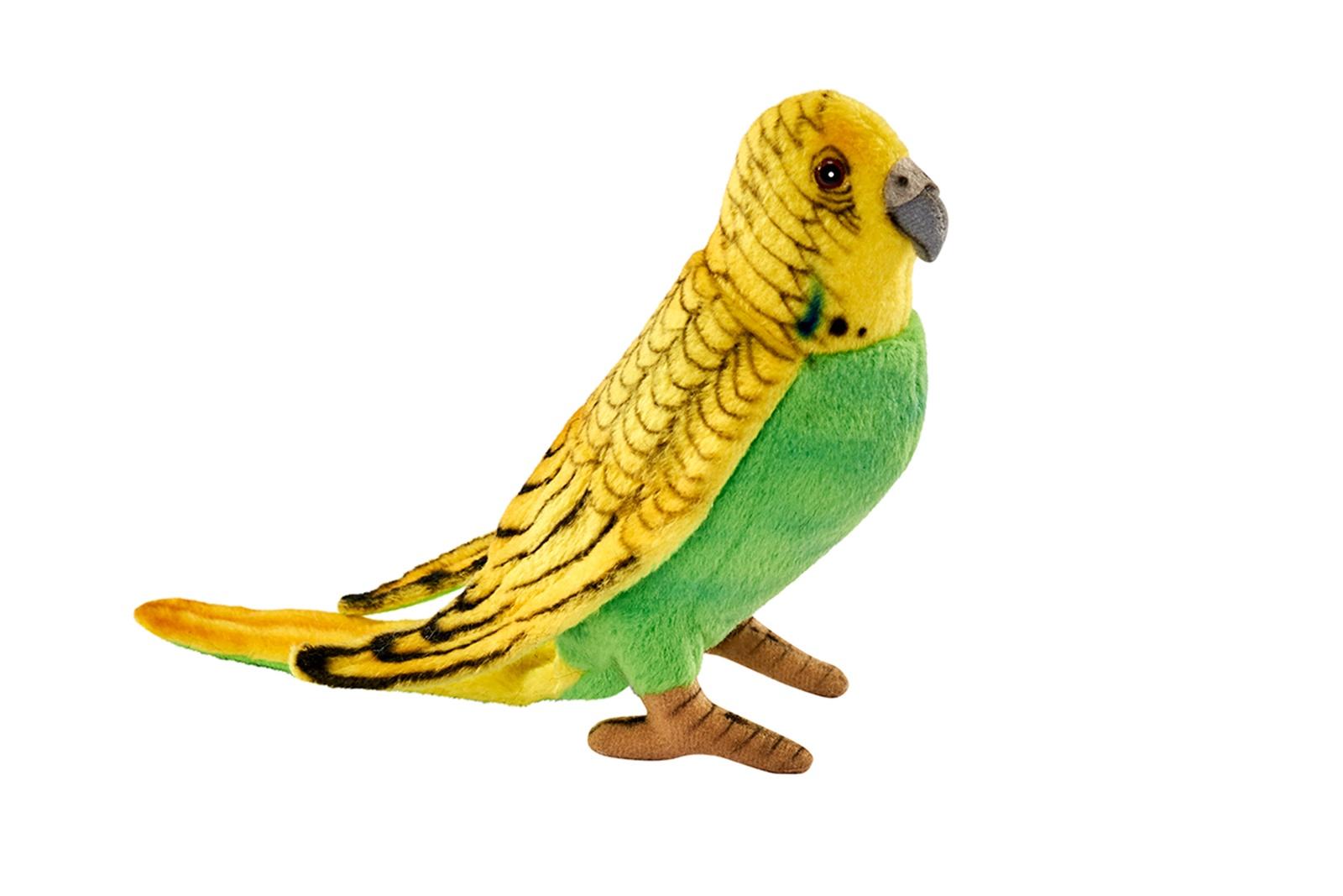Мягкая игрушка HANSA 3653П Волнистый попугайчик, 15 см. оранжевый