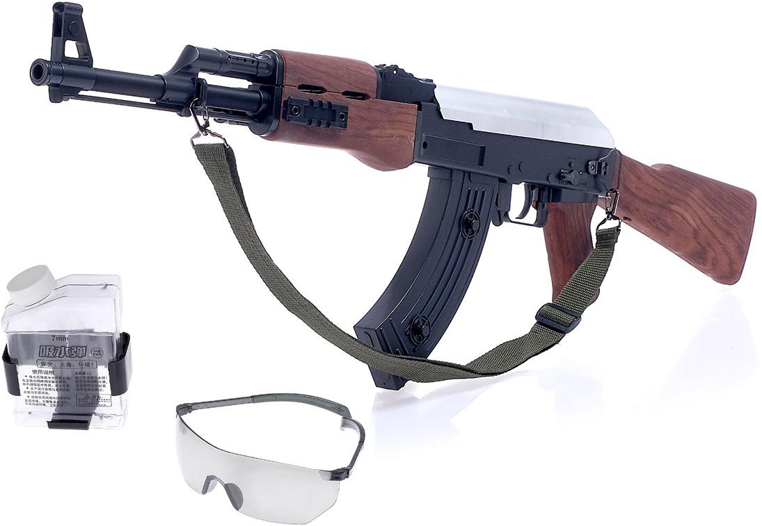 Игрушечное оружие Скорострельный автомат АК-47, 4123338 оптика на ак 74