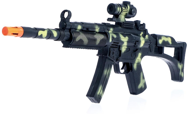 Игрушечное оружие Автомат-трещотка Спецназ, 1732867 игрушечное оружие pixel crew автомат м16 8бит синий пиксельный 62 см
