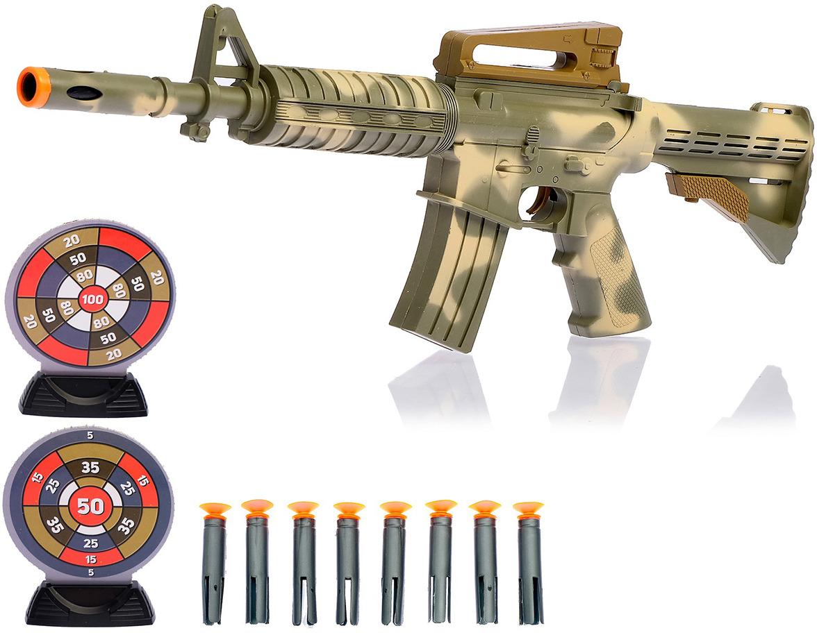Игрушечное оружие Автомат М-16, с мишенями, 1692203 игрушечное оружие zuru x shot ружье с мишенями атака пауков