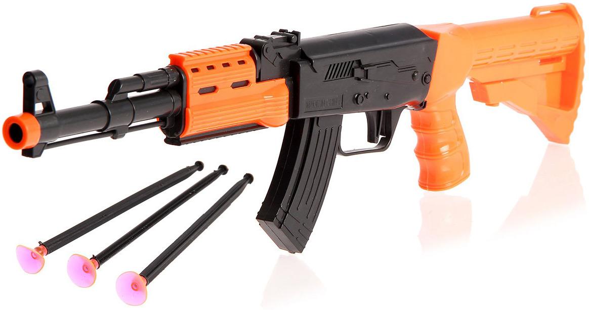 Игрушечное оружие Автомат Стрелок, 2624278 игрушечное оружие pixel crew автомат м16 8бит синий пиксельный 62 см