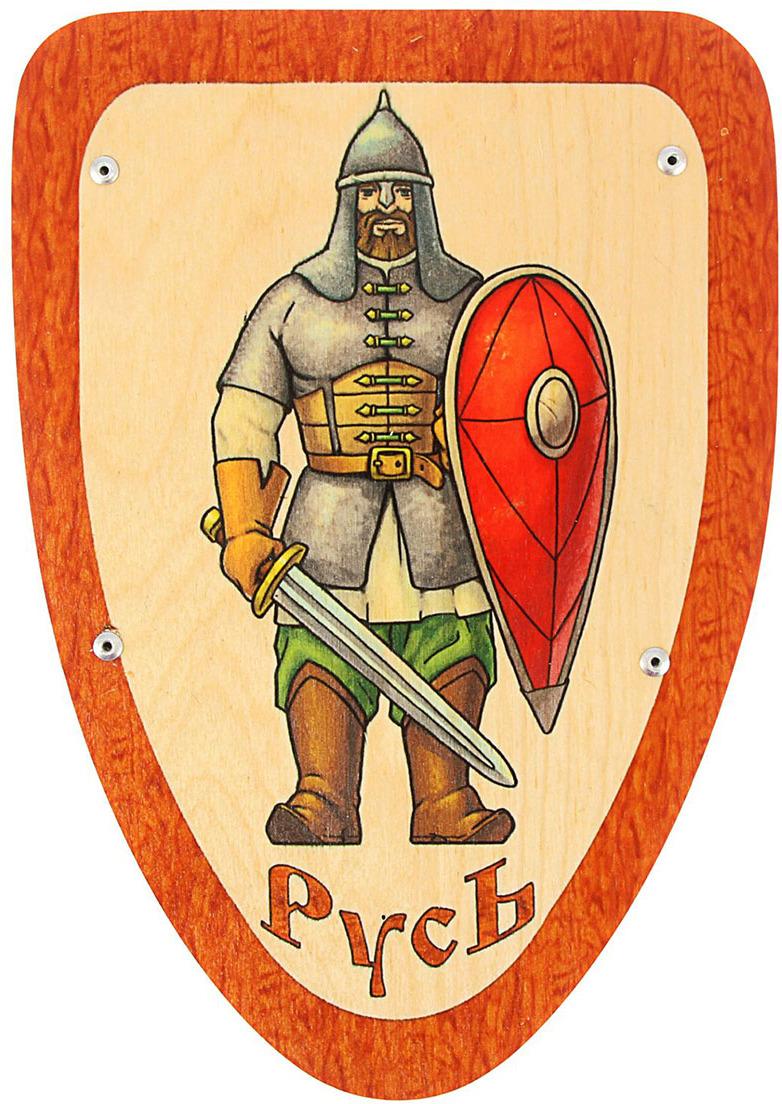 Игрушечное оружие Деревянный щит Богатырь, 1371097 щит для ванной