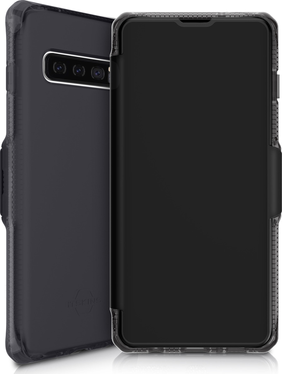 Чехол-книжка Itskins Spectrum Folio для Samsung Galaxy S10, черный оникс