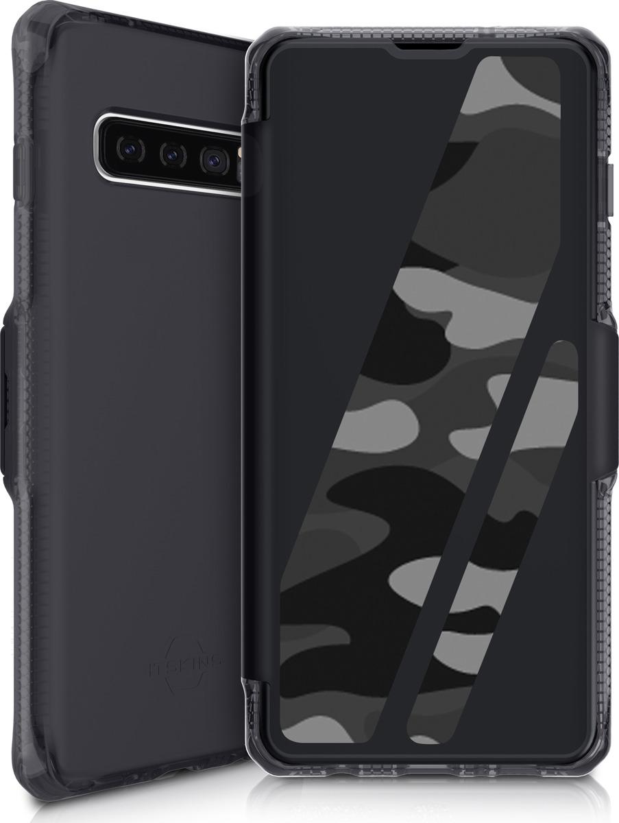 Чехол-книжка Itskins Spectrum Folio для Samsung Galaxy S10, черный, камуфляж