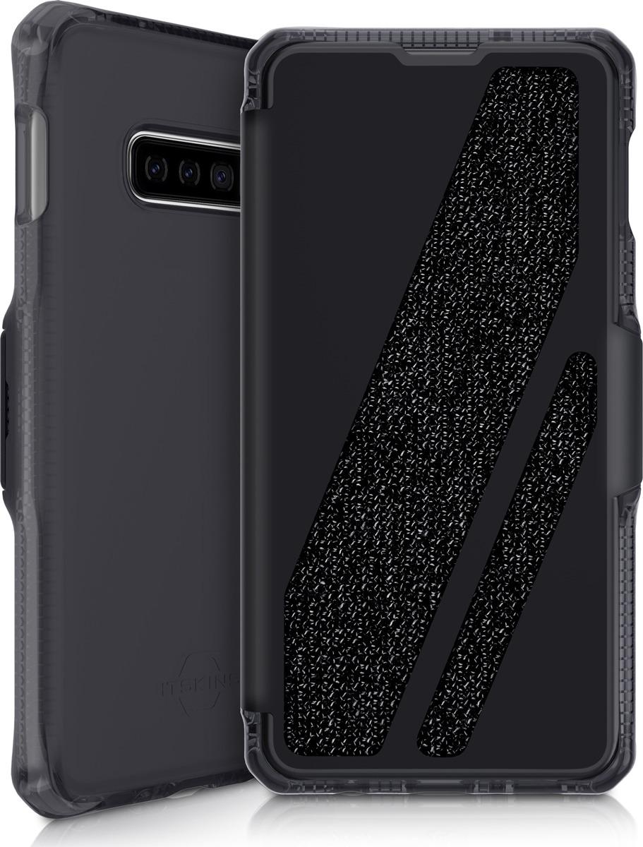 Чехол-книжка Itskins Spectrum Folio для Samsung Galaxy S10e, черный, серый