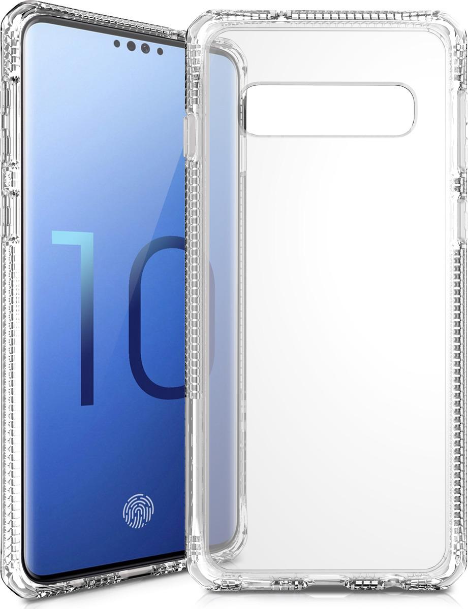 Чехол-накладка Itskins Hybrid Clear для Samsung Galaxy S10, прозрачный