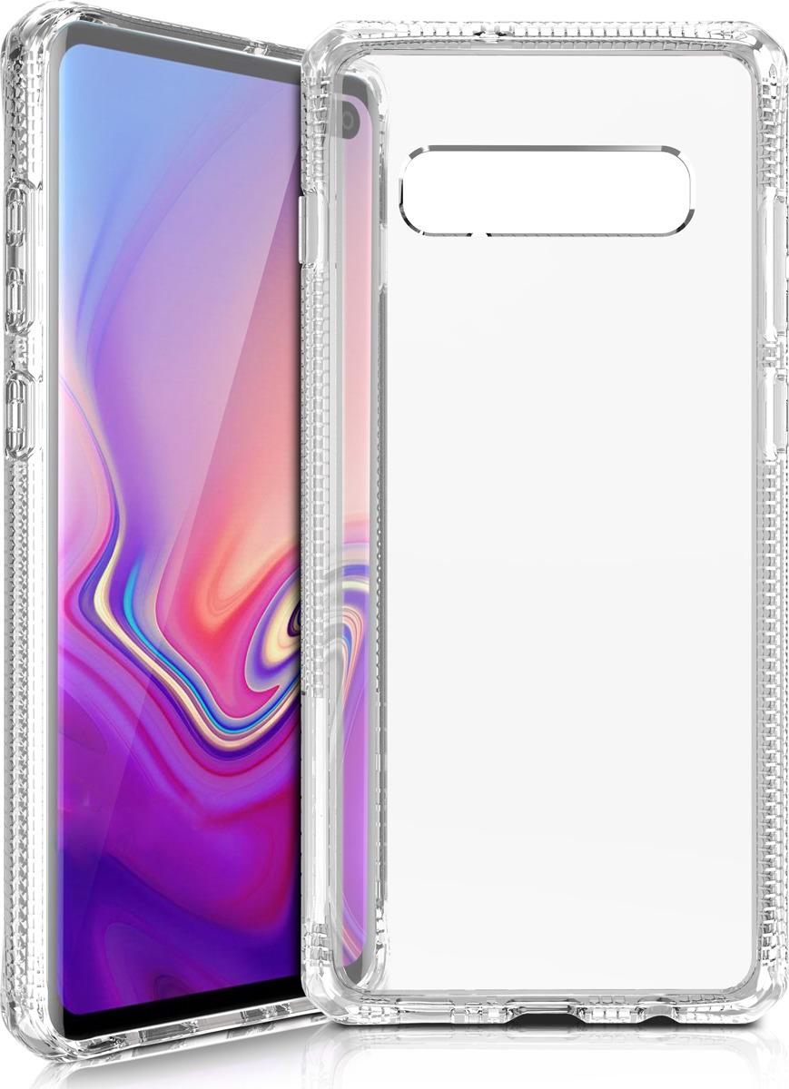 Чехол-накладка Itskins Hybrid Clear для Samsung Galaxy S10+, прозрачный