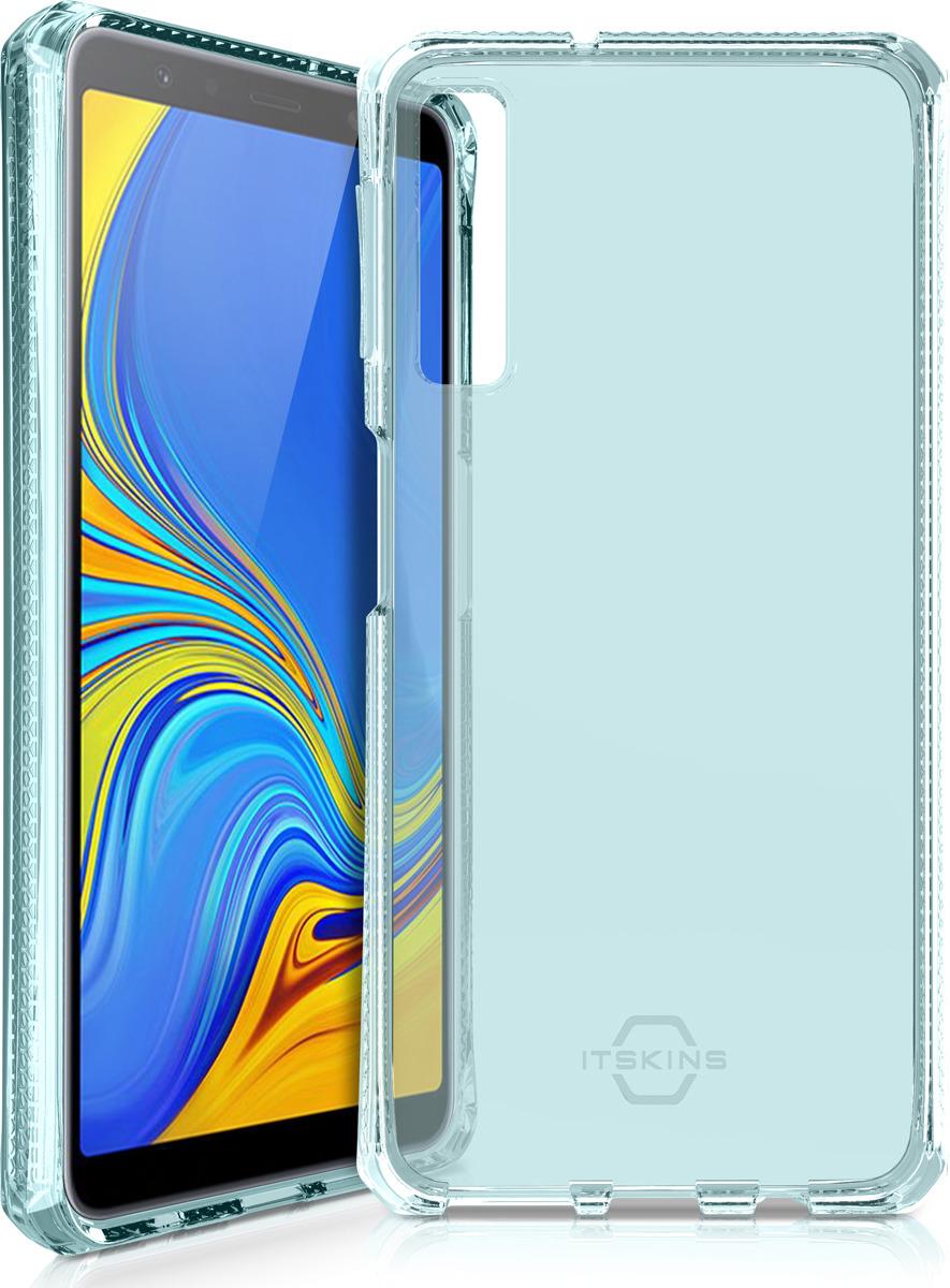 Чехол-накладка Itskins Spectrum Clear для Samsung Galaxy A7 (2018), голубой