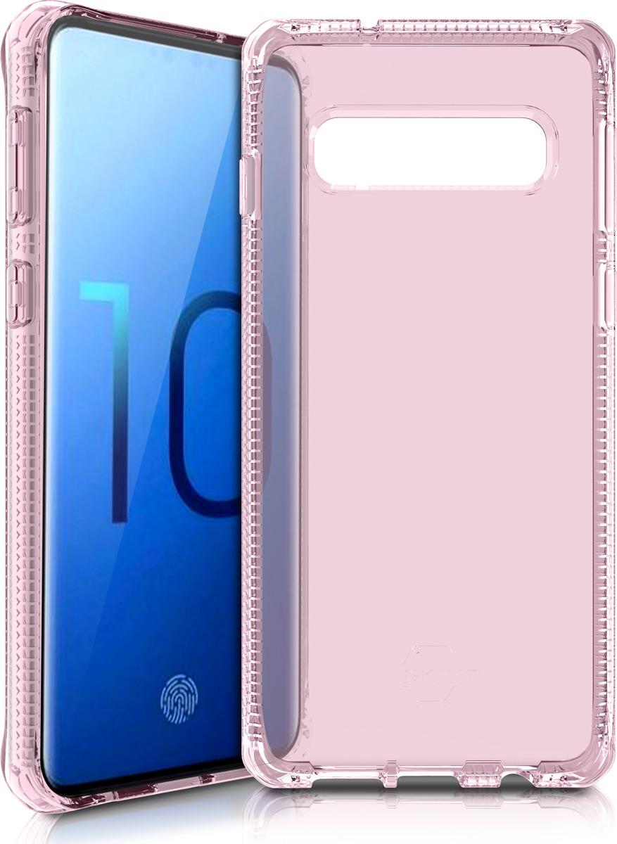 Чехол-накладка Itskins Spectrum Clear для Samsung Galaxy S10, светло-розовый