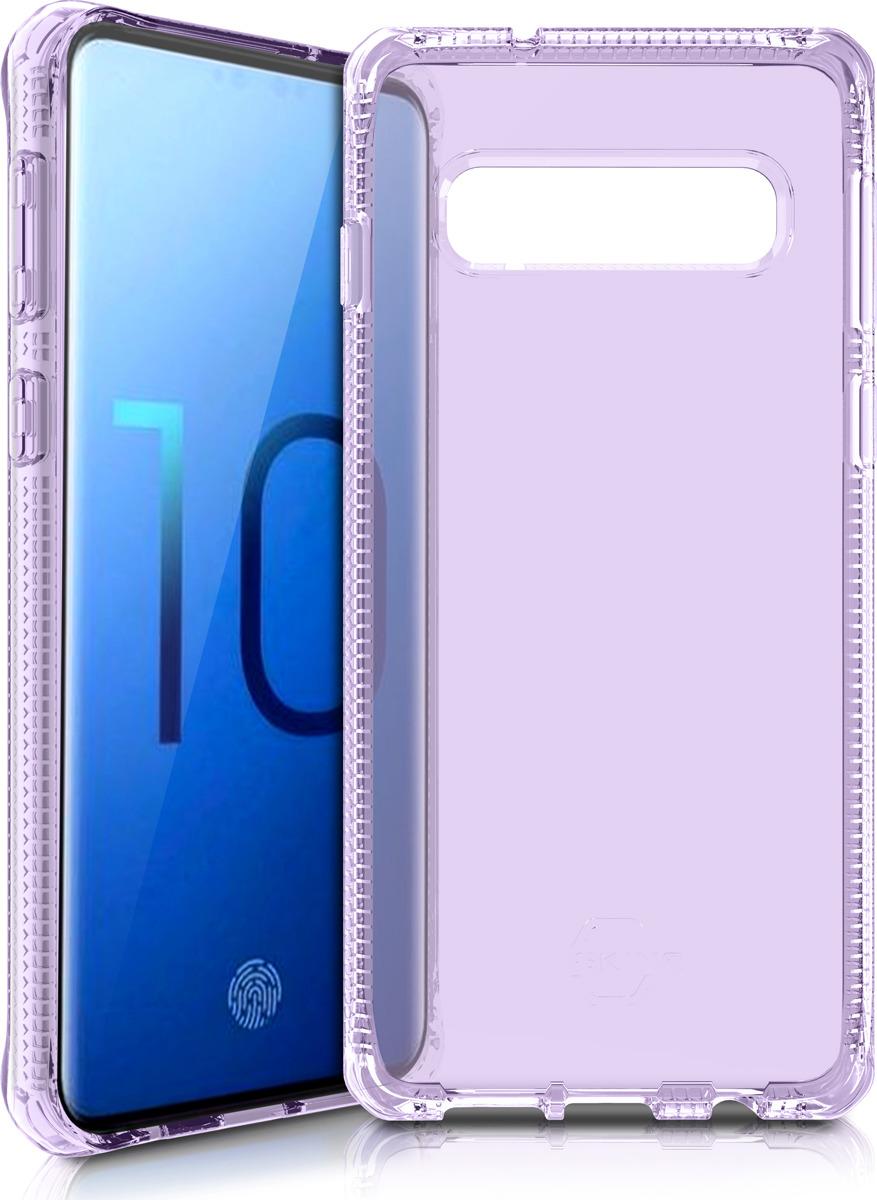 Чехол-накладка Itskins Spectrum Clear для Samsung Galaxy S10, сиреневый