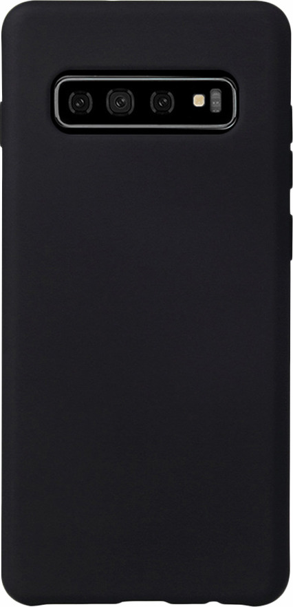 Чехол-накладка Brosco Colourful для Samsung S10 Plus, черный чехол для sony i4213 xperia 10 plus brosco силиконовая накладка черный