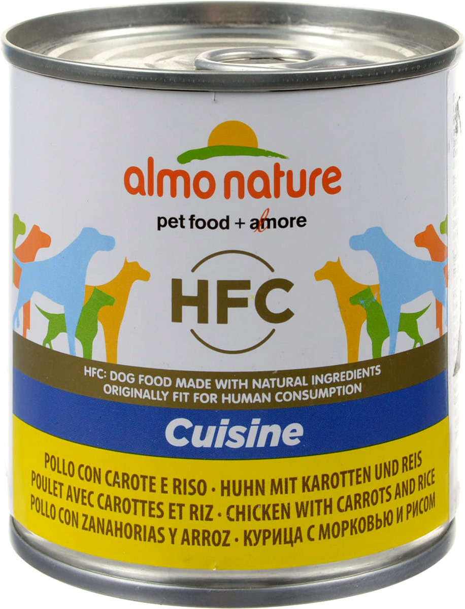 """Консервы для собак Almo Nature """"Classic"""", курица с морковью и рисом по-домашнему, 280 г"""