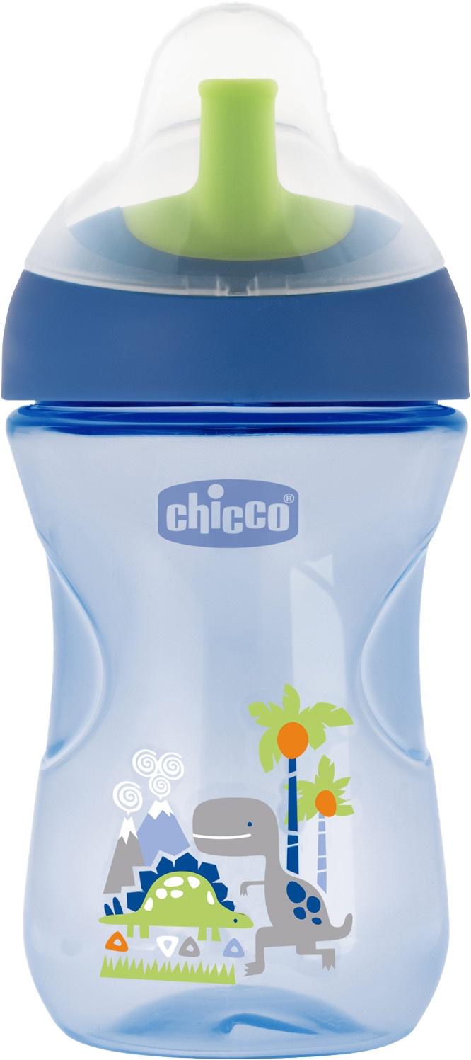 Поильник Chicco Advanced Cup (с трубочкой) синий