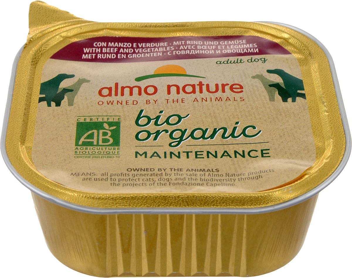Фото - Консервы для собак Almo Nature Daily Menu, паштет, с говядиной и овощами, 300 г консервы для кошек almo nature daily menu с форелью 85 г