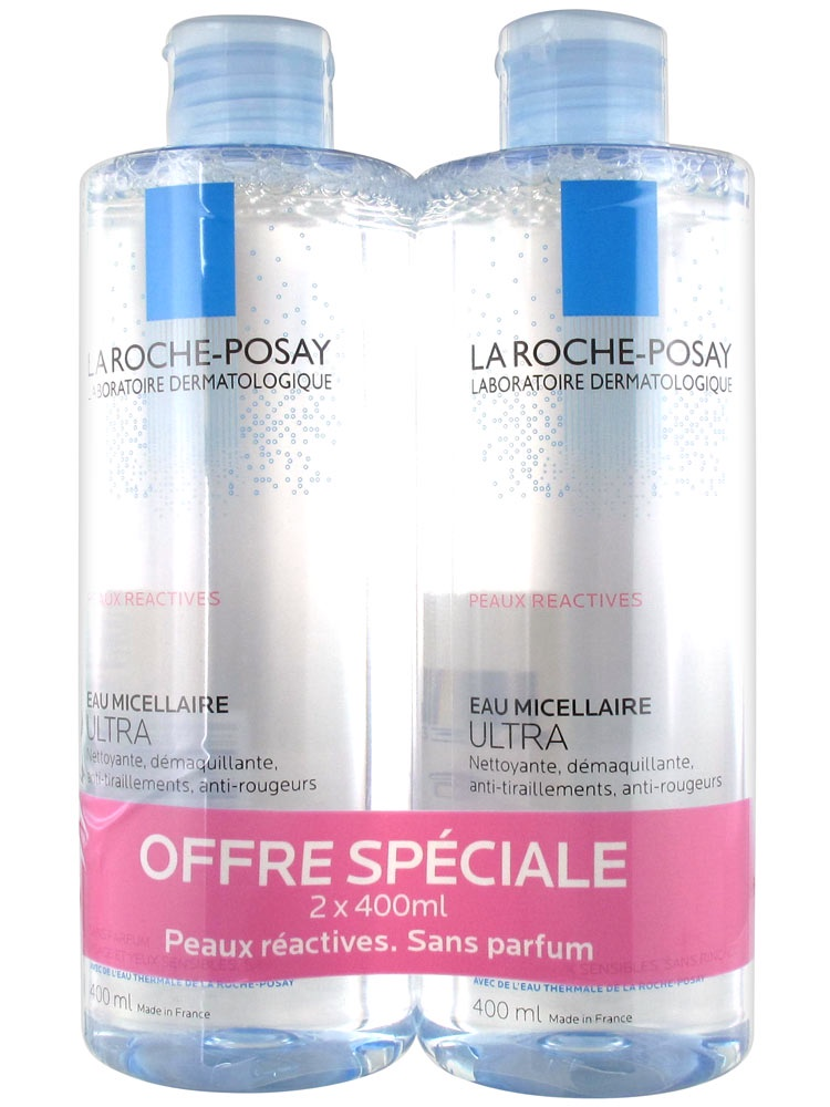 Набор косметики для ухода за кожей La Roche-Posay мицеллярная вода Ultra reactive для аллерг.кожи, 2 шт.