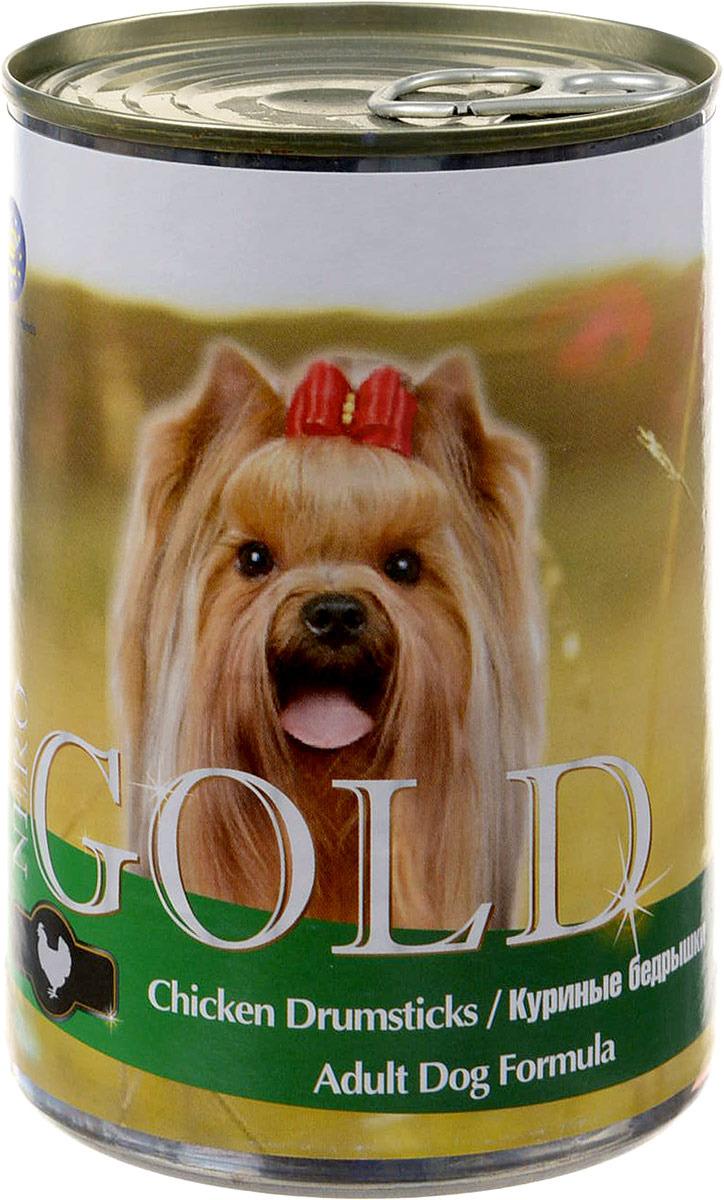 """Консервы для собак """"Nero Gold"""", с куриными бедрышками, 410 г"""