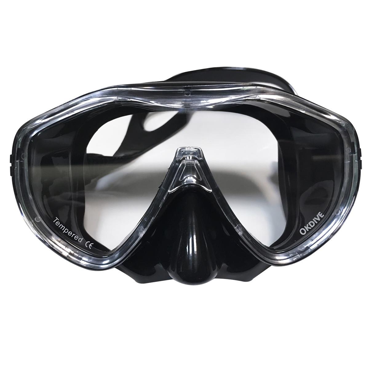 Маска для плавания OK00074BKCL, черный, прозрачный недорго, оригинальная цена