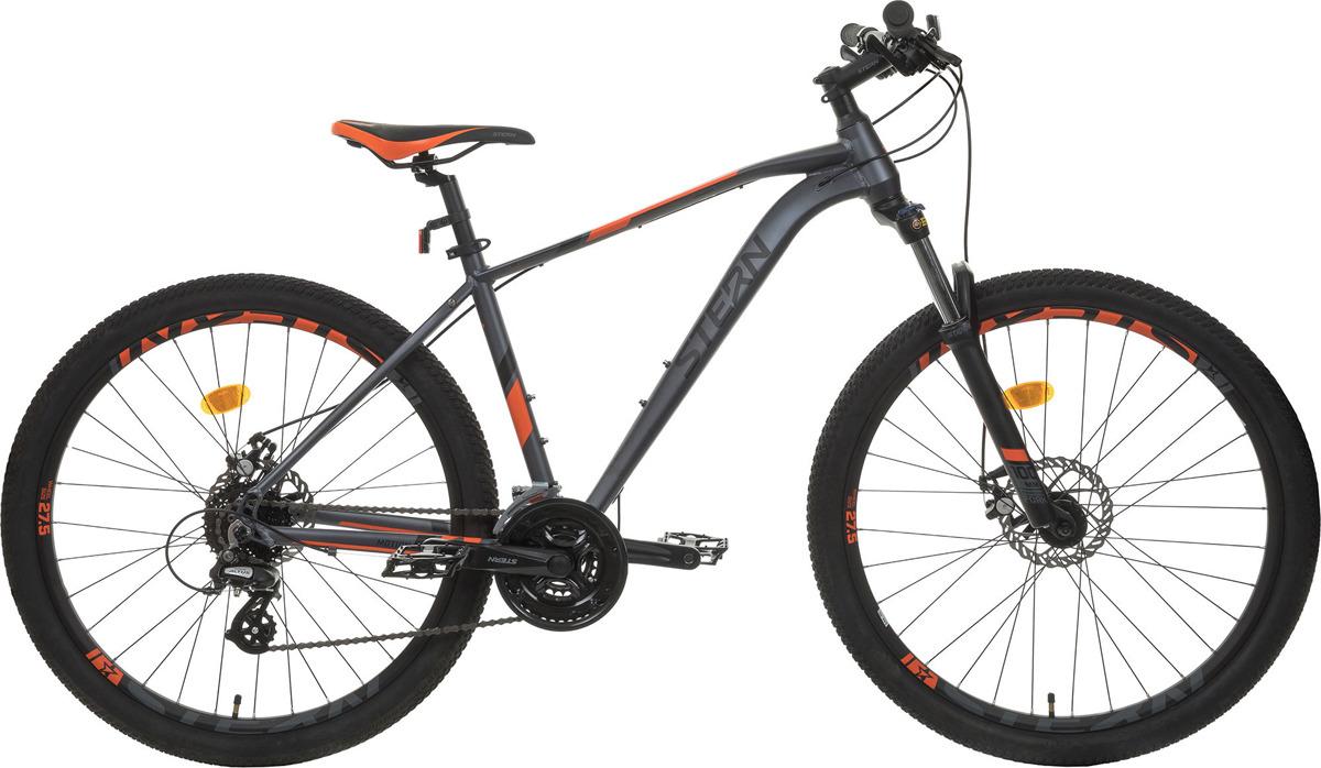 Велосипед горный Stern Motion 1.0 27.5, серый, оранжевый, колесо 27.5, рама 1819MOT118Горный велосипед с отличной проходимостью и накатом. Современная рама с геометрией Optimized Cycling Geometry облегчает управление, а возможность блокировки передней вилки позволяет экономить силы во время езды по ровной поверхности или при подъеме в гору. Трансмиссия Shimano Altus обеспечит точное переключение 24 скоростей. Амортизационная вилка с ходом 100 мм, регулировкой жесткости Preload и блокировкой. Колеса стандарта 27,5 дюймов для оптимального наката и высокой проходимости. Дисковая механическая тормозная система для безопасного торможения в любую погоду. Рама 6061 Aluminium с трубами, выполненными по технологии Hydroforming, обеспечивает низкий вес. Двойные обода выдерживают вес до 110 кг. Эргономичное седло и грипсы из картона служат для удобства во время катания. Крупногабаритный товар.