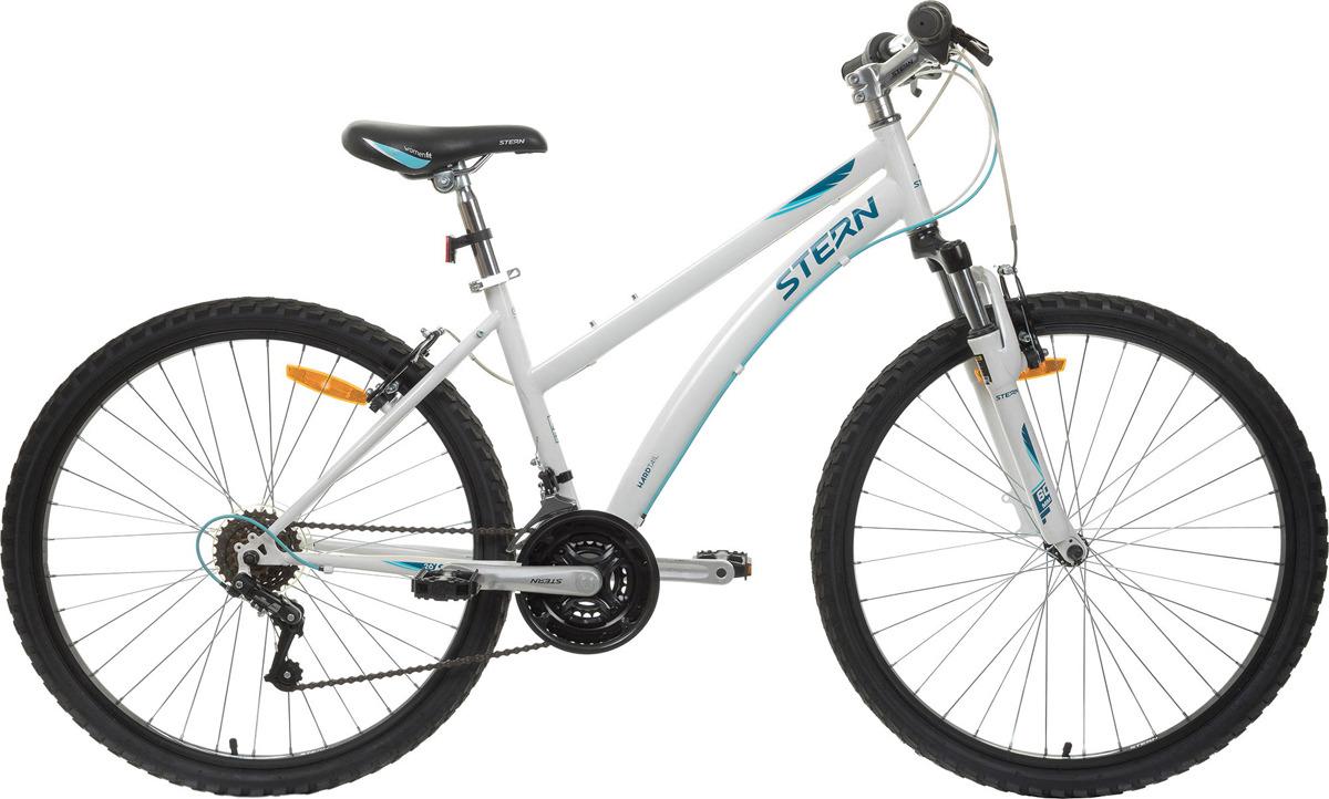 Велосипед горный Stern Vega 1.0 26, белый, голубой, колесо 26, рама 16 вилка амортизационная suntour гидравлическая для велосипедов 26 ход 100 120мм sf14 xcr32 rl 26