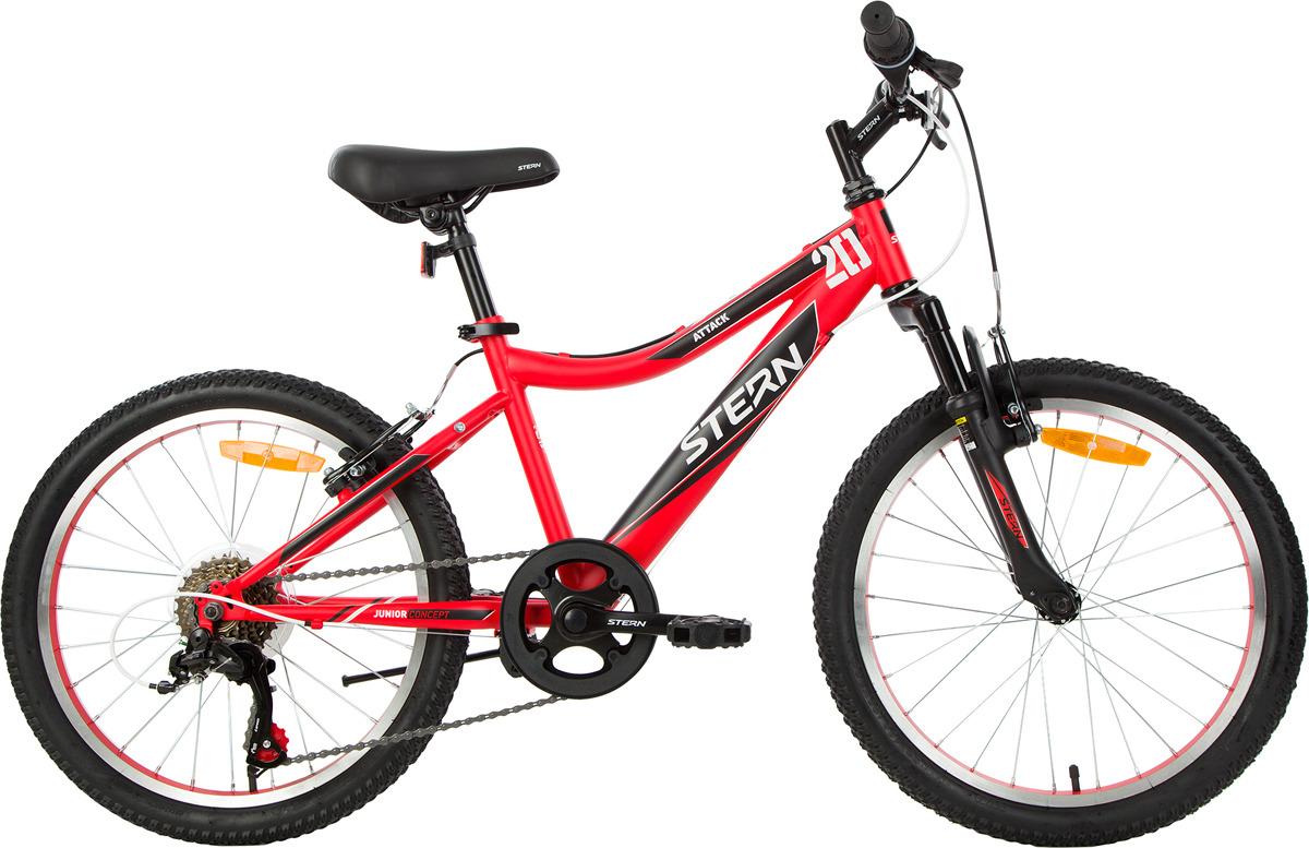 Велосипед для школьников Stern Attack 20, красный, черный, колесо 20, рама 20