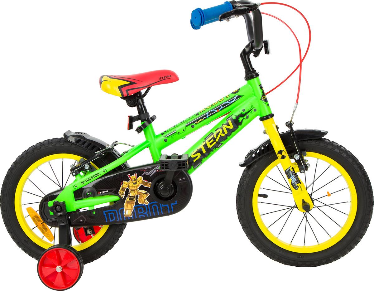 Велосипед детский Stern Robot 14, зеленый, желтый, колесо 14