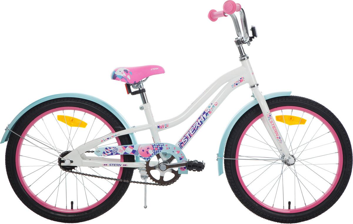 Велосипед для школьников Stern Fantasy 20, белый, розовый, колесо 20