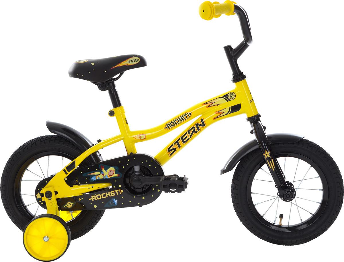Велосипед детский Stern Rocket 12, желтый, черный, колесо 12