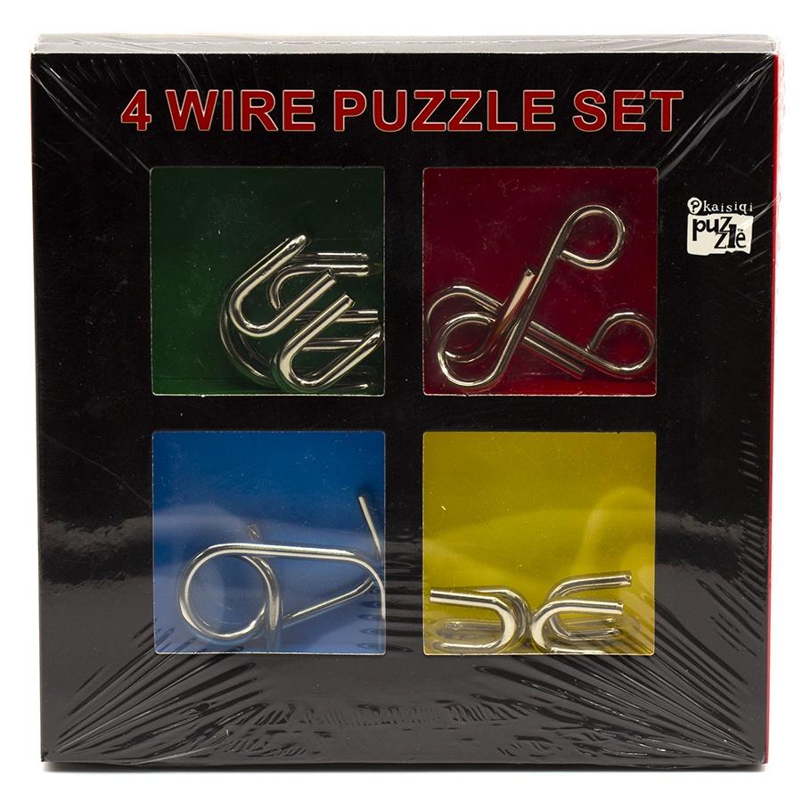 """Головоломка Набор из четырех металлических крючков """"4 Wire Puzzles"""""""